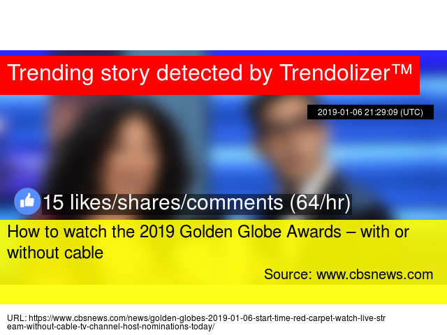 How to watch the 2019 Golden Globe Awards &ndash
