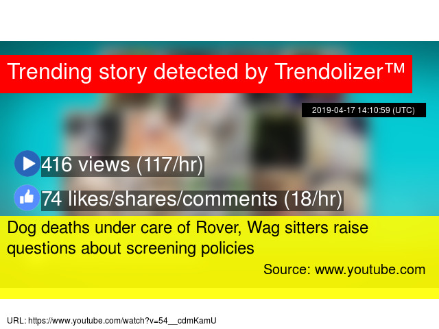 Dog deaths under care of Rover, Wag sitters raise questions