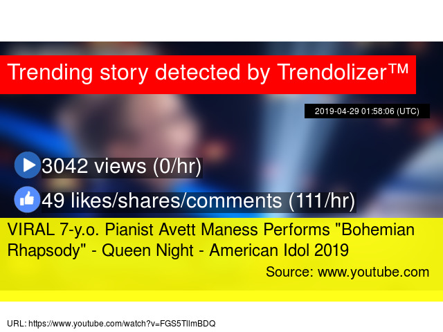 VIRAL 7-y o  Pianist Avett Maness Performs