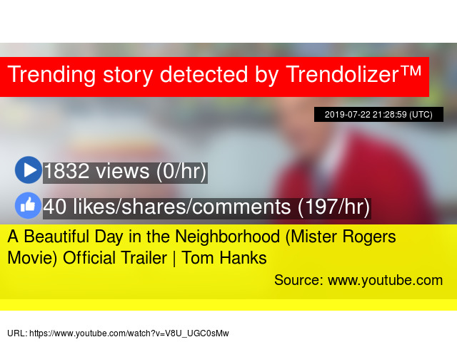 A Beautiful Day in the Neighborhood (Mister Rogers Movie