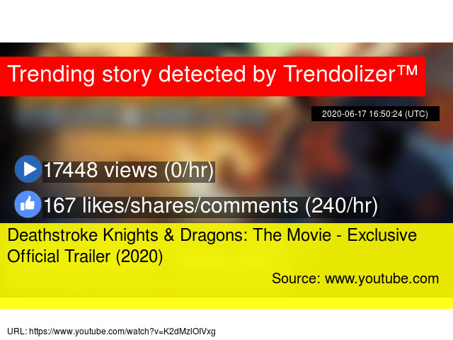 Deathstroke Knights Dragons The Movie Exclusive Official Trailer 2020