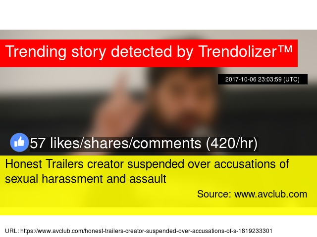 Honest Trailers creator suspended over accusations of sexual