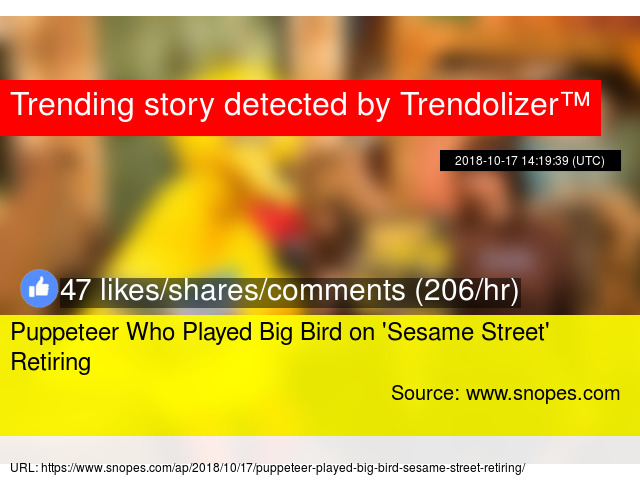 Puppeteer Who Played Big Bird on '