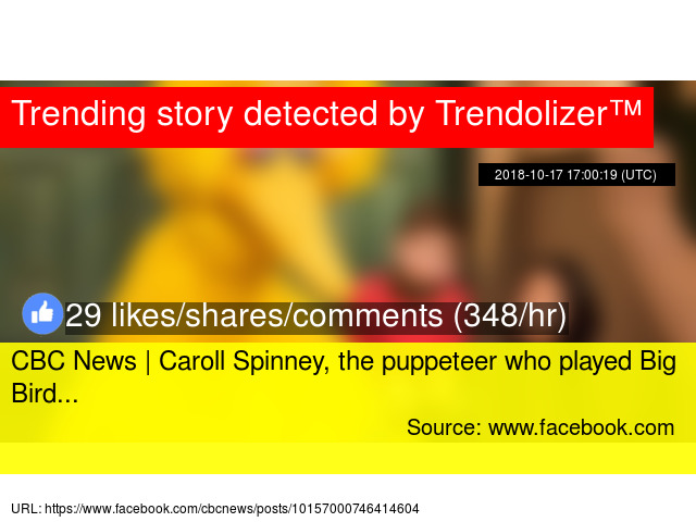 CBC News | Caroll Spinney, the puppeteer who played Big Bird